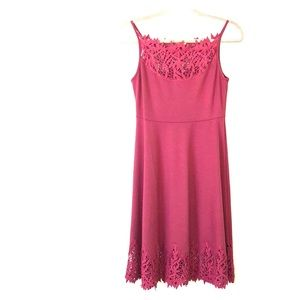 Free people A line Dress with Lace trim detail